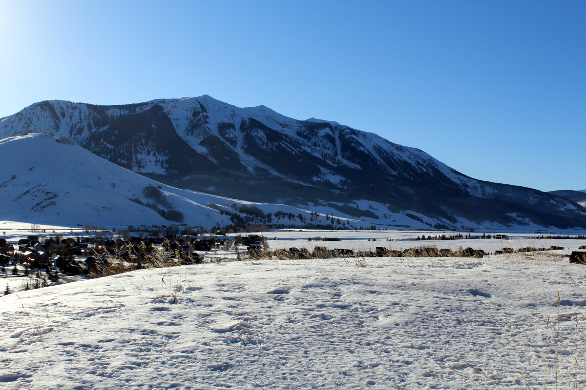 crested butte south whetstone in winter