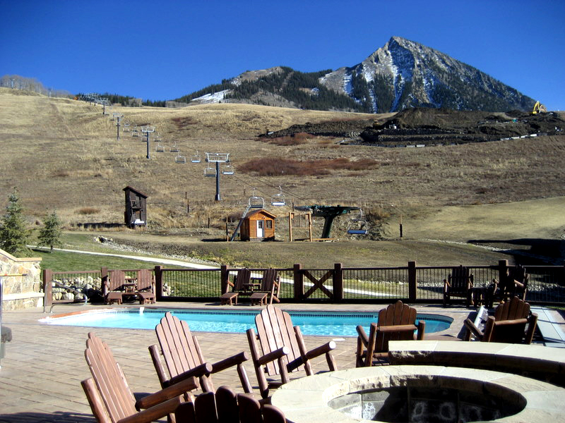 Crested Butte pool at the West Wall Lodge