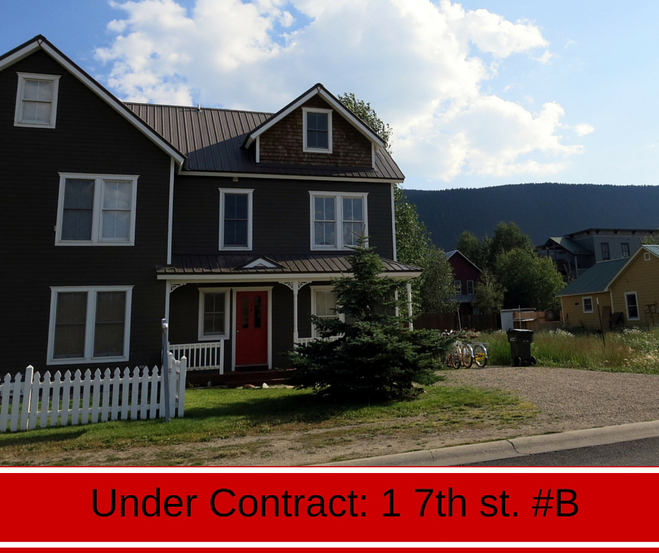 Under contract 1 seventh st b crested butte co for B b contract