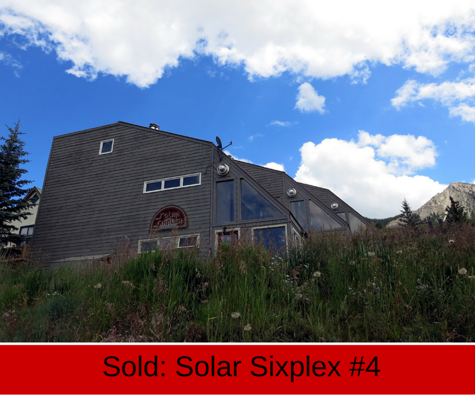 crested butte real estate condo sold in solar sixplex at 26 castle road.
