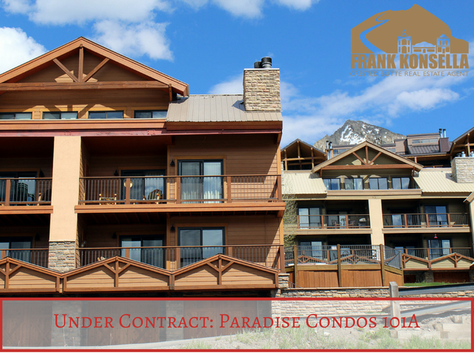 crested butte condo under contract paradise 101A